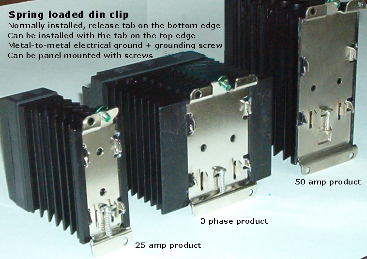 Power-io din rail solid state relays