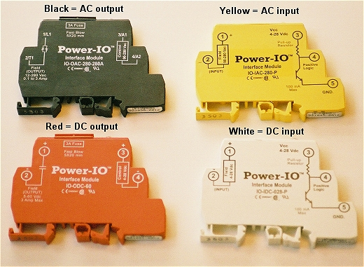 power-io i/o modules for iac, oac, iac, and idc