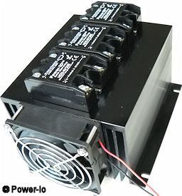 triple solid state relay heat sink